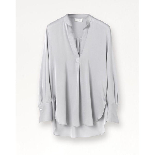 By Malene Birger - Skjorta - Mabillon Silk Shirt (01Z Silver) - Thernlunds