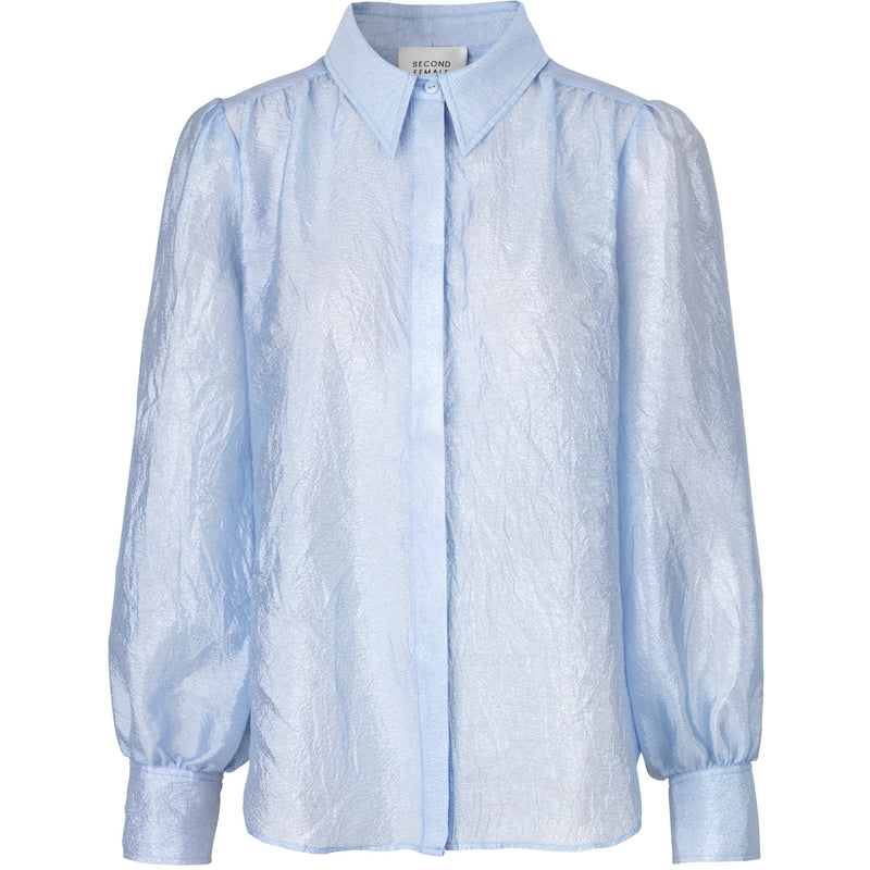 Second Female - Skjorta - Rosalina LS Shirt (Brunnera Blue) - Thernlunds