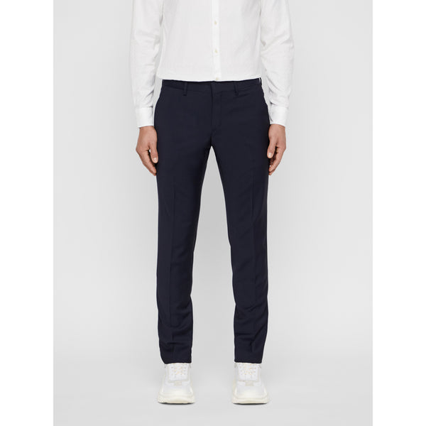 J.Lindeberg - Byxa - Paulie Comfort Wool Trousers (6666 Navy) - Thernlunds