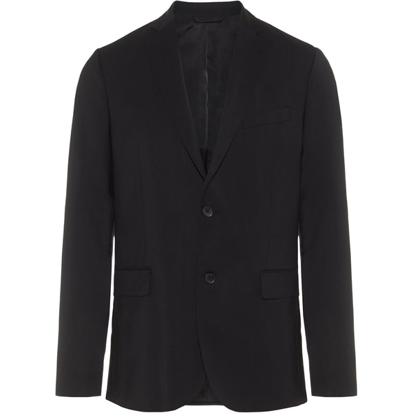 J.Lindeberg - Kavaj - Hopper Soft Comfort Wool Blazer (9999 Black) - Thernlunds