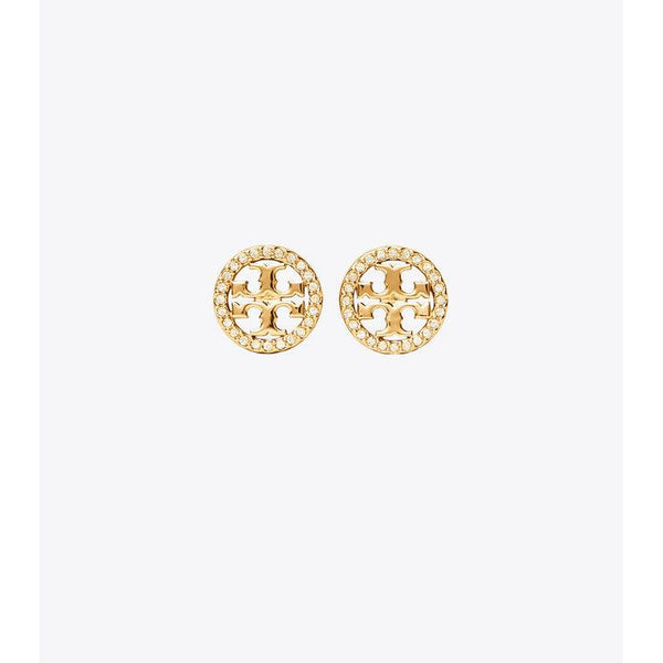 Crystal Logo Stud Earrings - Thernlunds