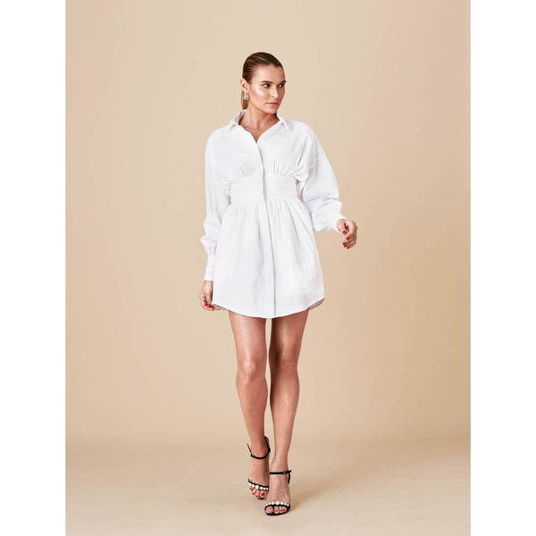 Shirt Dress (WHITE)