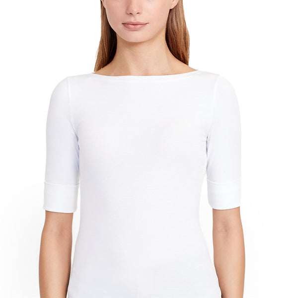 Lauren - T-shirt - 200654963 Judy Elbow Sleeve Knit (007 White) - Thernlunds