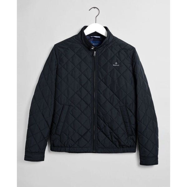 Gant - Jacka - The Quilted Windcheater (5 Black) - Thernlunds