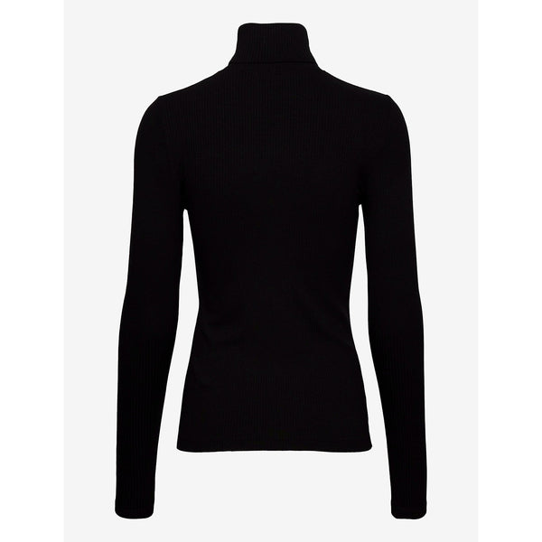 Calvin Klein Jeans - Tröja - Ls Rib Roll Neck (BEH Ck Black) - Thernlunds
