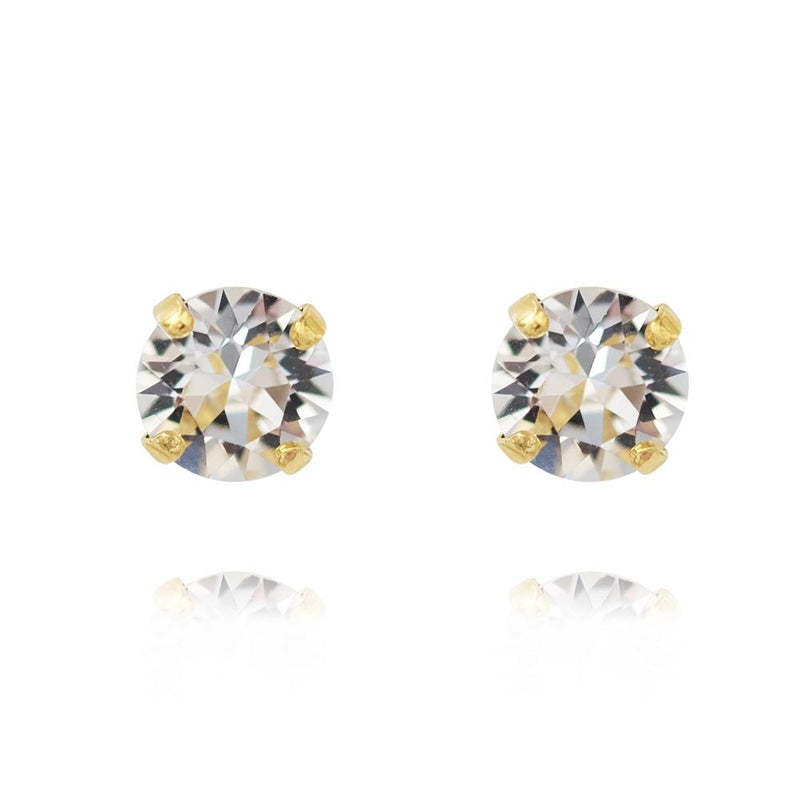 Caroline Svedbom - Smycken - Classic Stud Earring Gold (001 Crystal) - Thernlunds