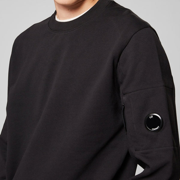 C.P. Company - Tröja - Crew Neck (999 Black) - Thernlunds