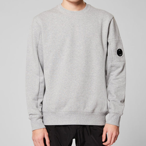 C.P. Company - Tröja - Crew Neck (M93 Grey) - Thernlunds