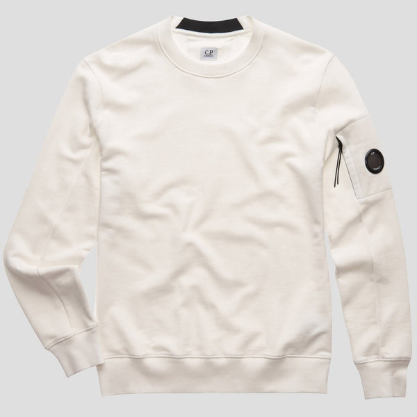 C.P. Company - Tröja - Crew Neck (103 White) - Thernlunds