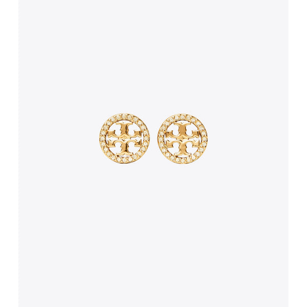 Tory Burch - Smycken - 54322 Crystal logo stud earrings (Guld) - Thernlunds