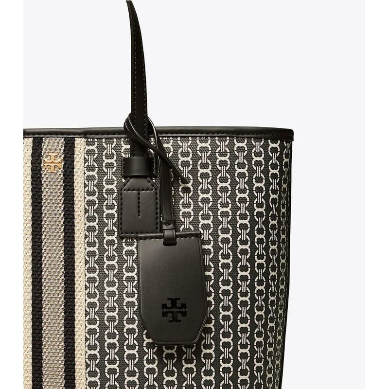 Tory Burch - Väska - Gemini Link Canvas Top-Zip Tote - Thernlunds