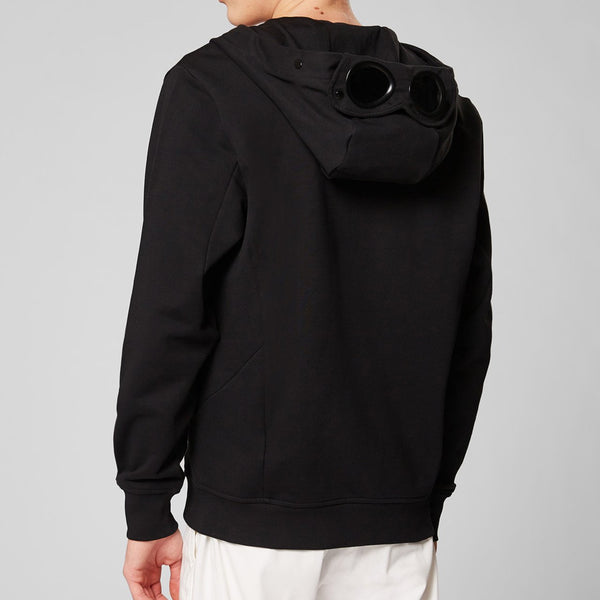 C.P. Company - Tröja - Hooded Open Sweater (999 Black) - Thernlunds
