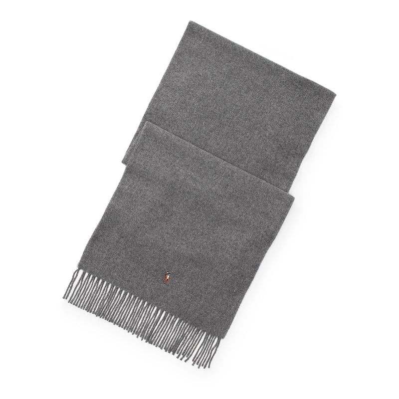 Polo Ralph Lauren - Halsduk/Scarf - Small Horse Scarf (003 Fawn Grey Hthr) - Thernlunds
