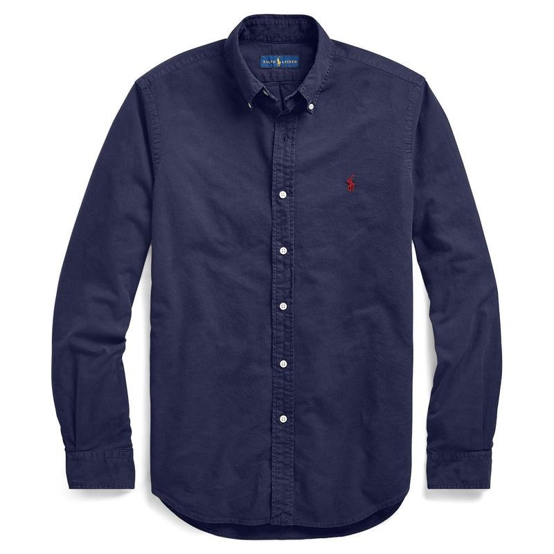 Polo Ralph Lauren - Skjorta - Garmend Dyed Slim Shirt - Thernlunds
