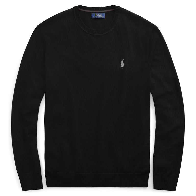 Polo Ralph Lauren - Tröja - Ls Sf Cn Pp-Long Sleeve-Sweater (001 Black) - Thernlunds