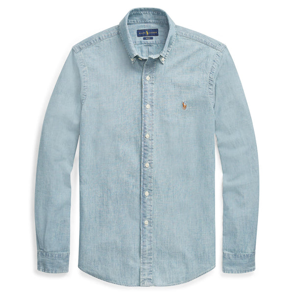 Polo Ralph Lauren - Skjorta - Slim Fit Chambray Shirt (001 Chambray) - Thernlunds