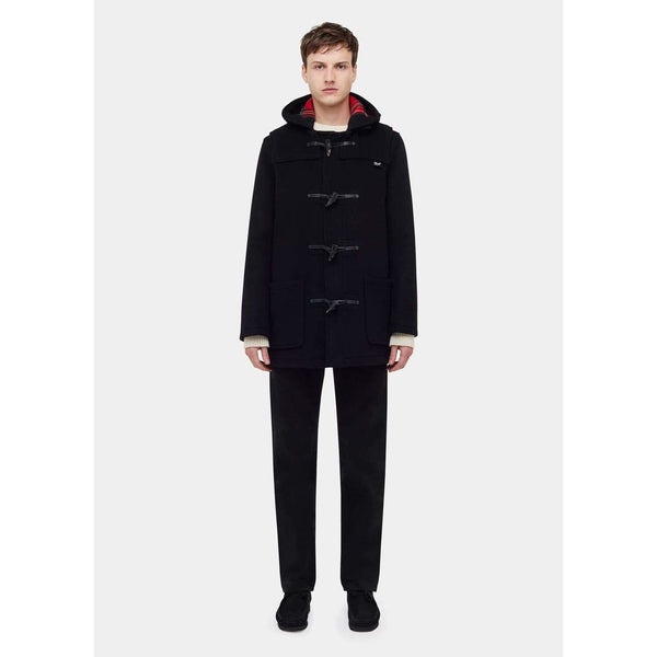 Gloverall - Rock - Mid Lenght Duffle Coat (Black) - Thernlunds
