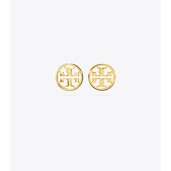 Tory Burch - Smycken - Logo Circle Stud Earrings - Thernlunds