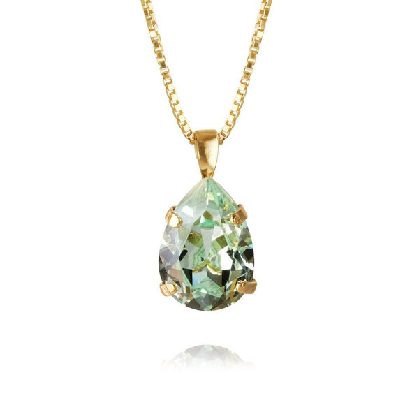 Caroline Svedbom - Smycken - Mini Drop Necklace Gold (238 Chrysolite) - Thernlunds