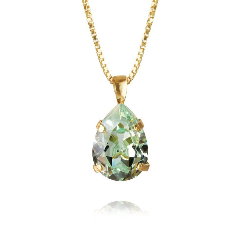 Mini Drop Necklace Gold (238 Chrysolite)