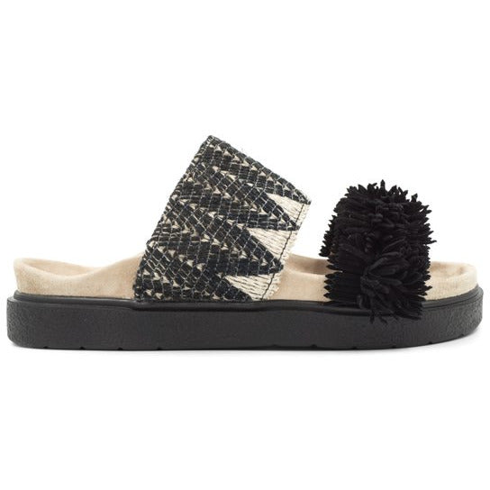 Inuikii - Skor - W Raffia Slipper (Black) - Thernlunds