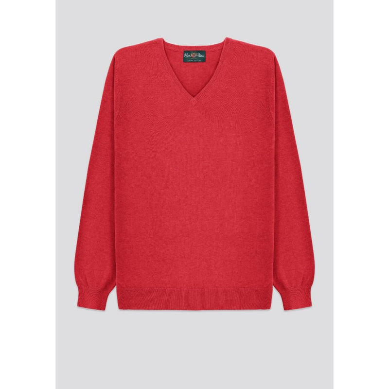 Alan Paine - Tröja - Rothwell V-Neck Pullover (Chilli) - Thernlunds