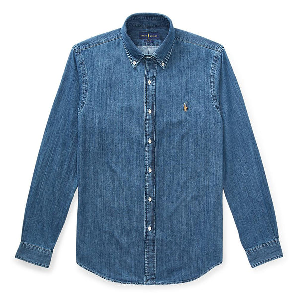 Polo Ralph Lauren - Skjorta - Slim Fit Denim Shirt - Thernlunds