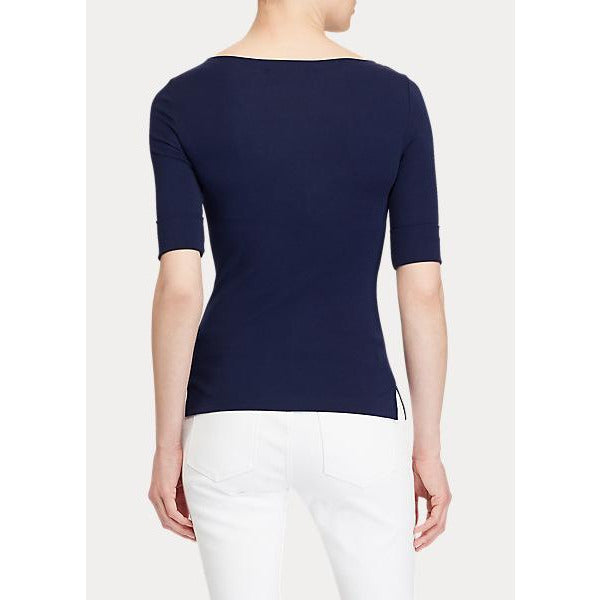 Judy-Elbow Sleeve-Knit (079 Lauren Navy)