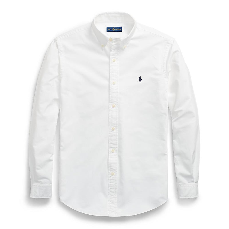 Polo Ralph Lauren - Tröja - Custom Fit Garment Dyed Oxford Shirt (100 White) - Thernlunds