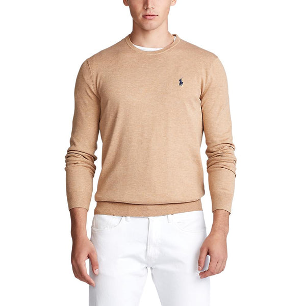 Pima Cotton Crew Neck (021 Camel Melange)