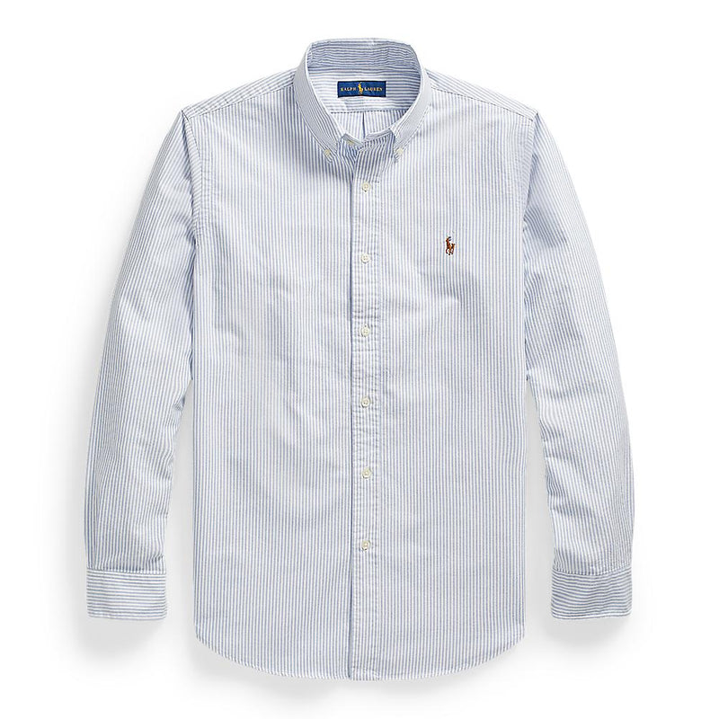 Corefit Oxford Basic Shirt (004 Blue White Stripe)
