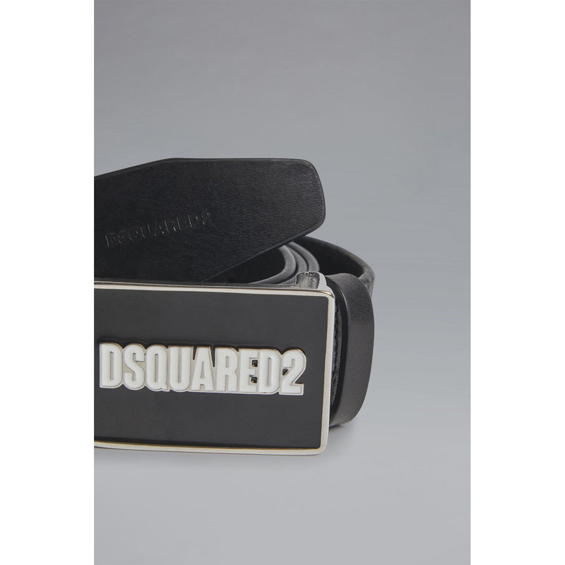 Dsquared2 - Bälte - Plaque Belt (Nero) - Thernlunds