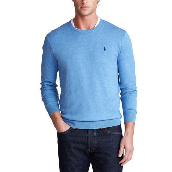 Polo Ralph Lauren - Tröja - Pima Cotton Crew Neck (019 Soft Royal Heather Blue) - Thernlunds