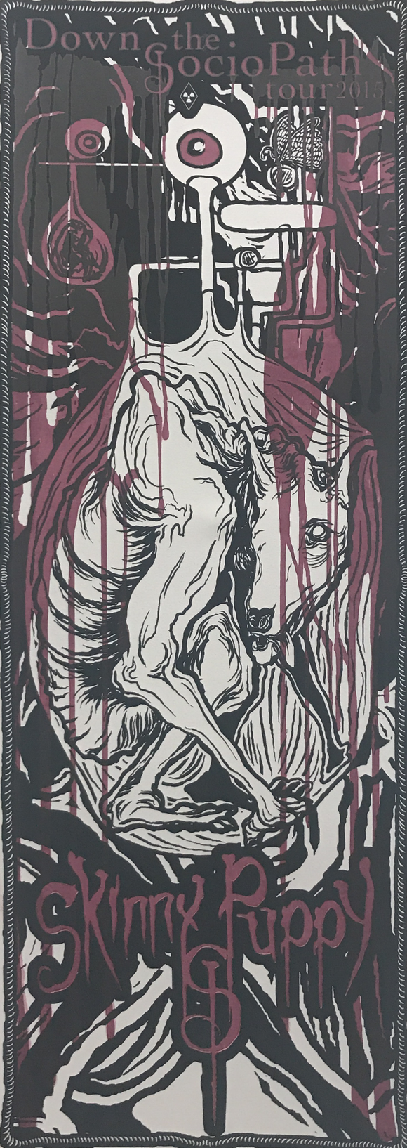 Skinny Puppy Down the SocioPath Tour 2015 Poster - test prints