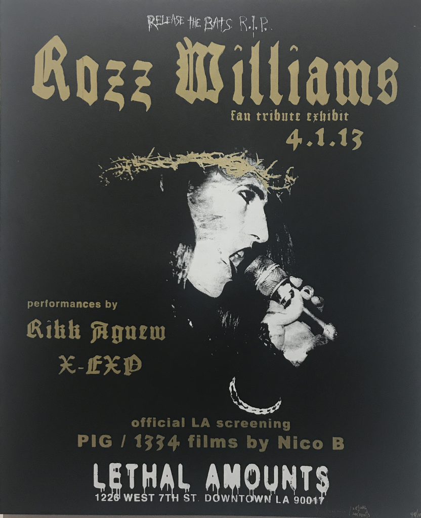 Rozz Willams Tribute Show Poster