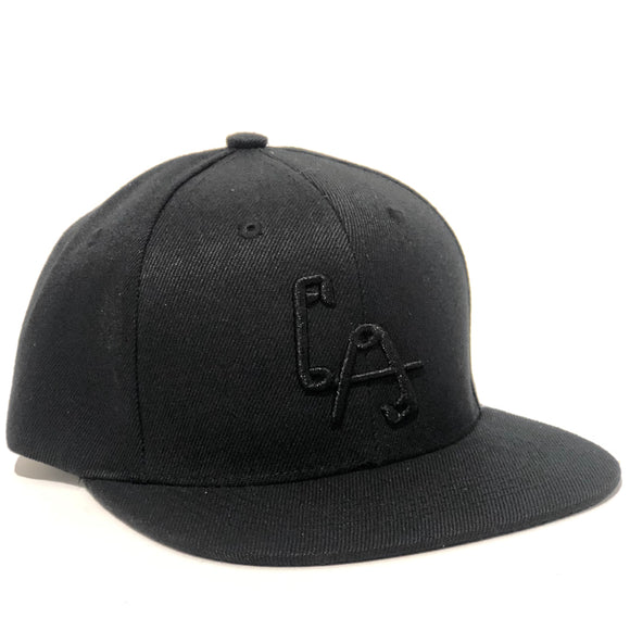 LA Safety Pins Snapback cap - BLACK ON BLACK