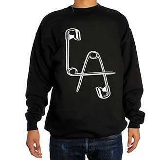 Lethal Amounts Safety Pins Logo - Crewneck Sweatshirt