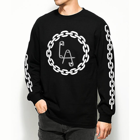 Chained LA Safety Pins Long Sleeve