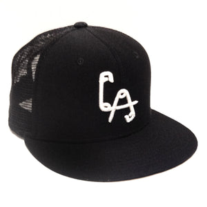 LA Safety Pins Mesh Snapback Cap - Black
