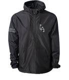 Black lightweight pullover windbreaker - Safety Reflective