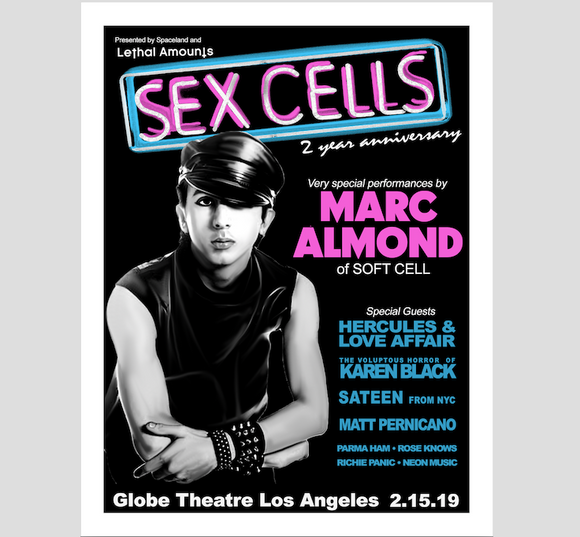 Sex Cells - Marc Almond official screen print poster