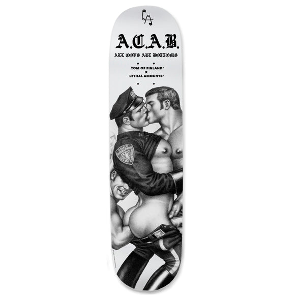 PRESALE Tom Of Finland x Lethal Amounts ACAB Skateboard