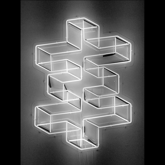 Psychic TV Wireframe Psychic Cross - neon sign