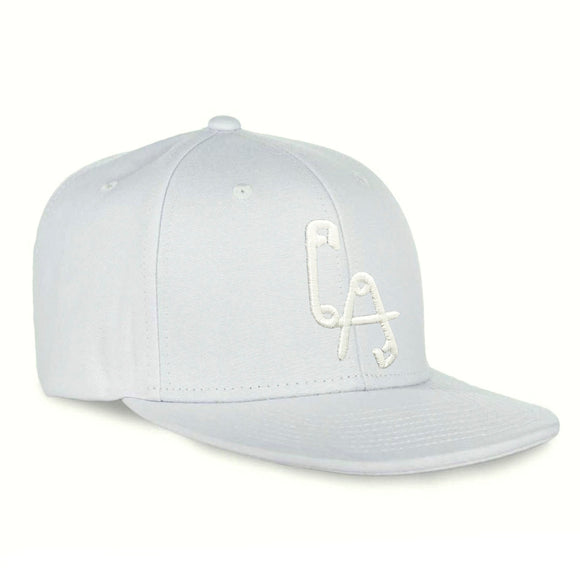Lethal Amounts Logo Snapback - White on White
