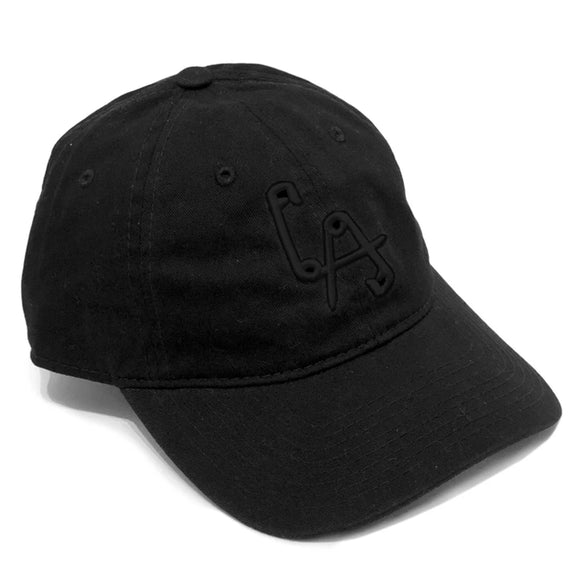 Lethal Amounts LA Pins Dad Hat - Black on Black embroidery