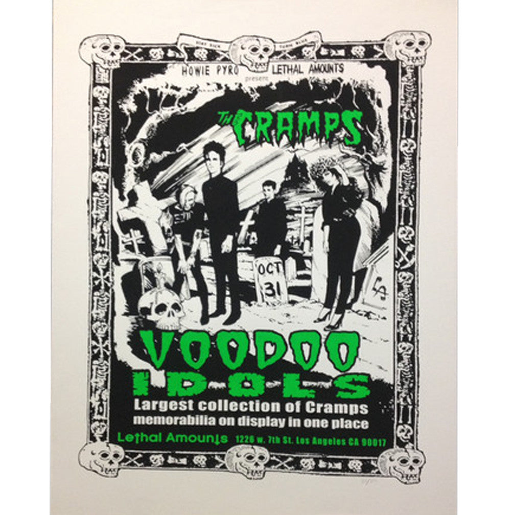 The Cramps Fan Tribute Exhibit Poster Test Print