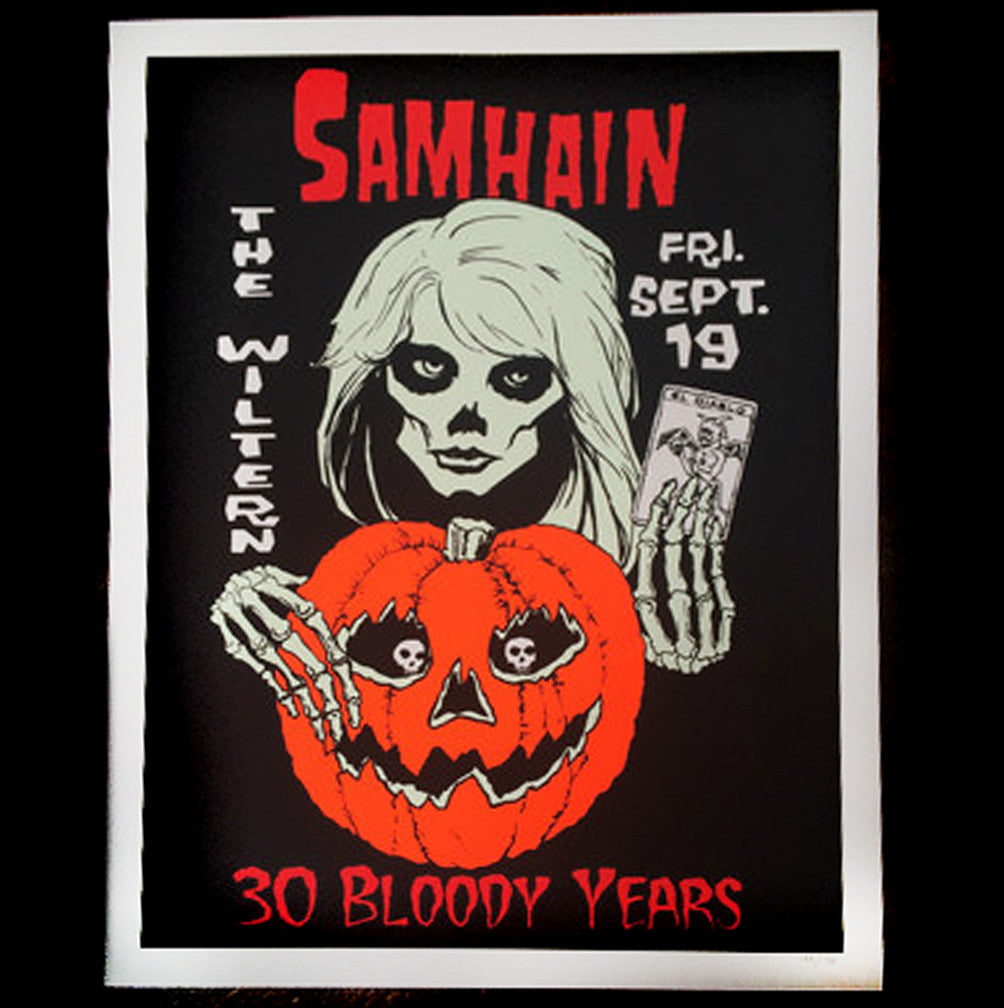 SAMHAIN 30 Bloody Years Screen Printed Poster Limited Edition of 138