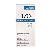 Load image into Gallery viewer, Tizo 3 Primer Sunscreen- Tinted SPF 40