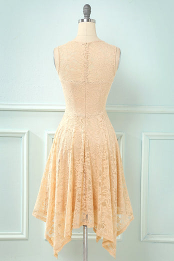 Asymmetrisk Lace Formel Party Dress