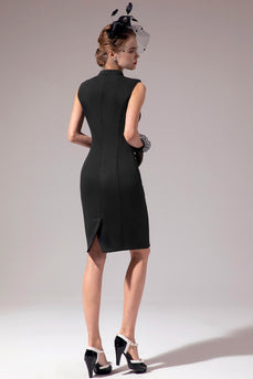 Mor sort bodycon kjole